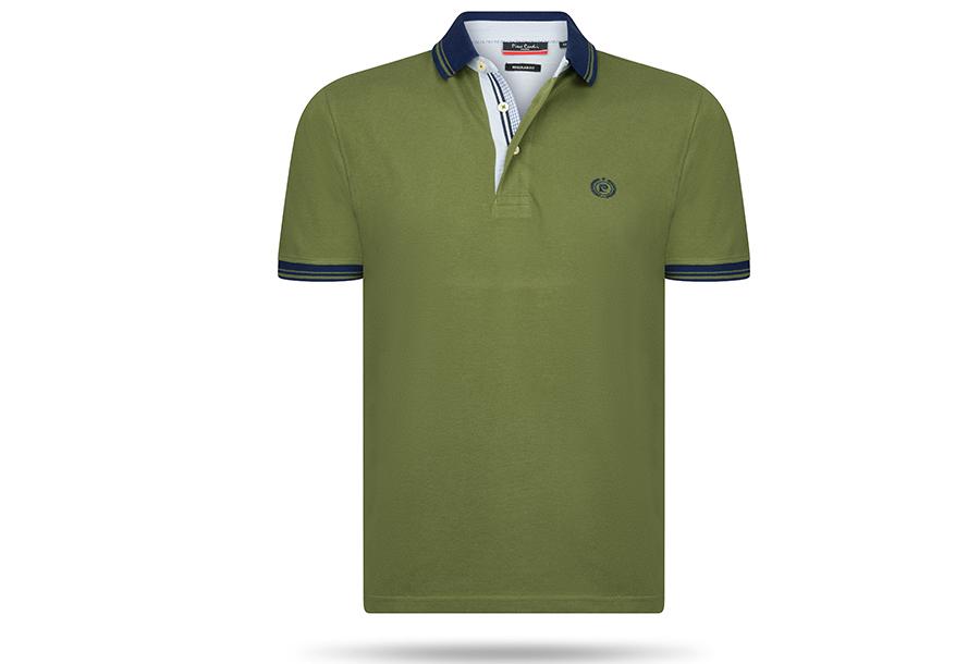 Pierre Cardin polo - FA206716 Maat M - Army groen