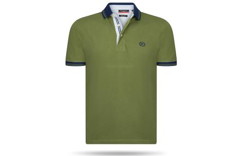 Pierre Cardin herenpolo sale | Topkwaliteit polo's nu voor een extreem lage prijs Army Groen