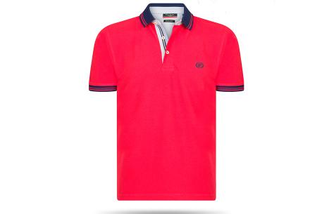 Pierre Cardin herenpolo sale | Topkwaliteit polo's nu voor een extreem lage prijs Rood