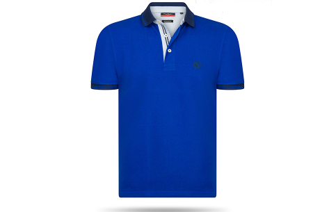Pierre Cardin herenpolo sale | Topkwaliteit polo's nu voor een extreem lage prijs Royal Blauw
