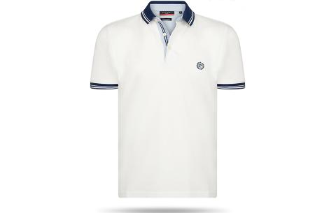 Pierre Cardin herenpolo sale | Topkwaliteit polo's nu voor een extreem lage prijs Wit