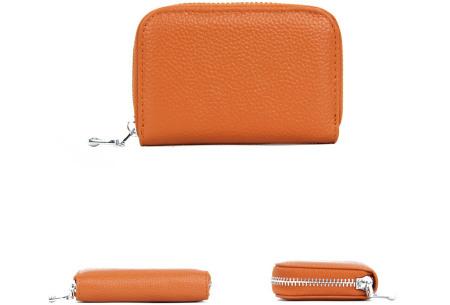 Mini portemonnee | Compacte dames portefeuille van PU leder met RFID anti-skim beveiliging Caramel