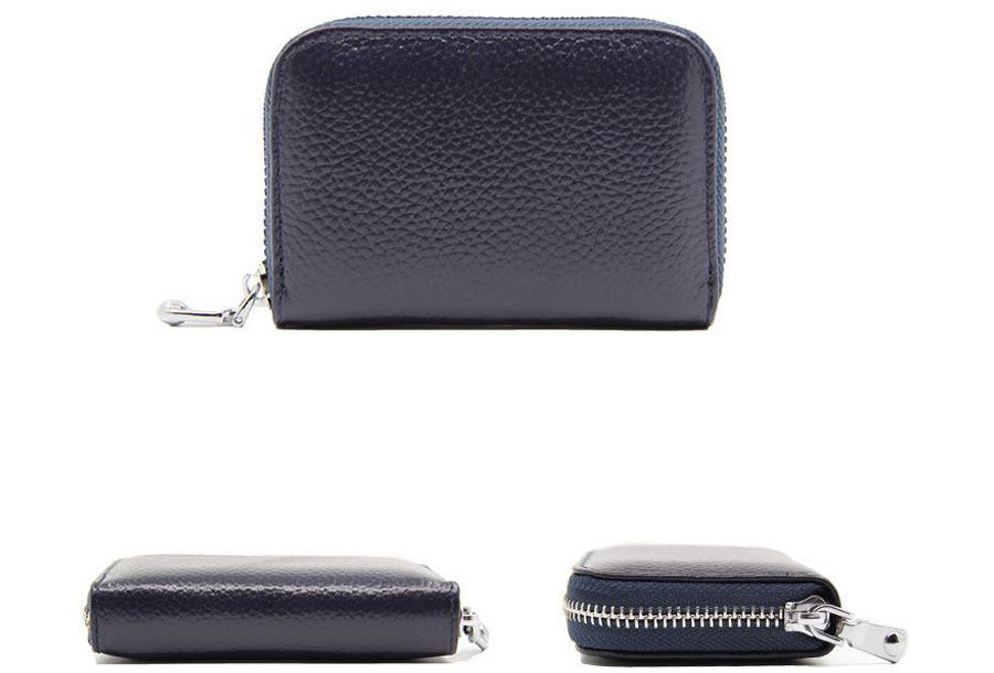 Trendy mini portemonnee Donkerblauw