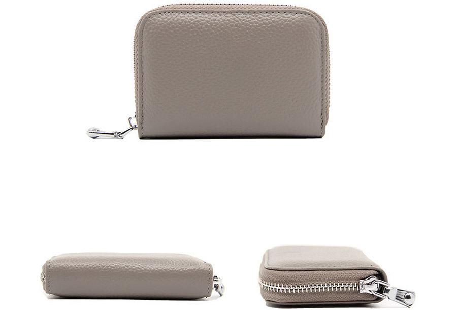 Trendy mini portemonnee Grijs