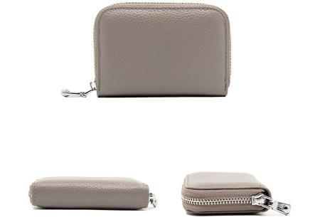 Mini portemonnee | Compacte dames portefeuille van PU leder met RFID anti-skim beveiliging Grijs