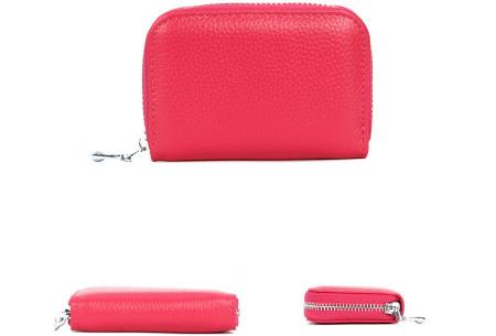 Mini portemonnee | Compacte dames portefeuille van PU leder met RFID anti-skim beveiliging Roze