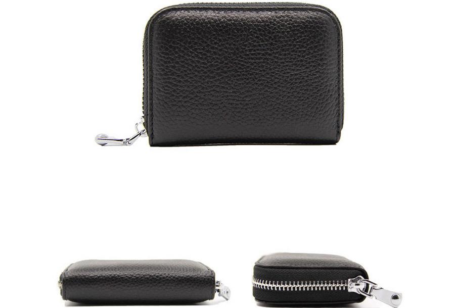 Trendy mini portemonnee Zwart