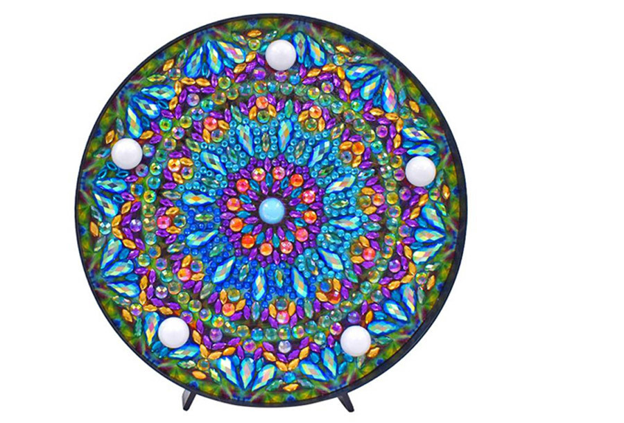 Diamond painting decoratie met LED verlichting A