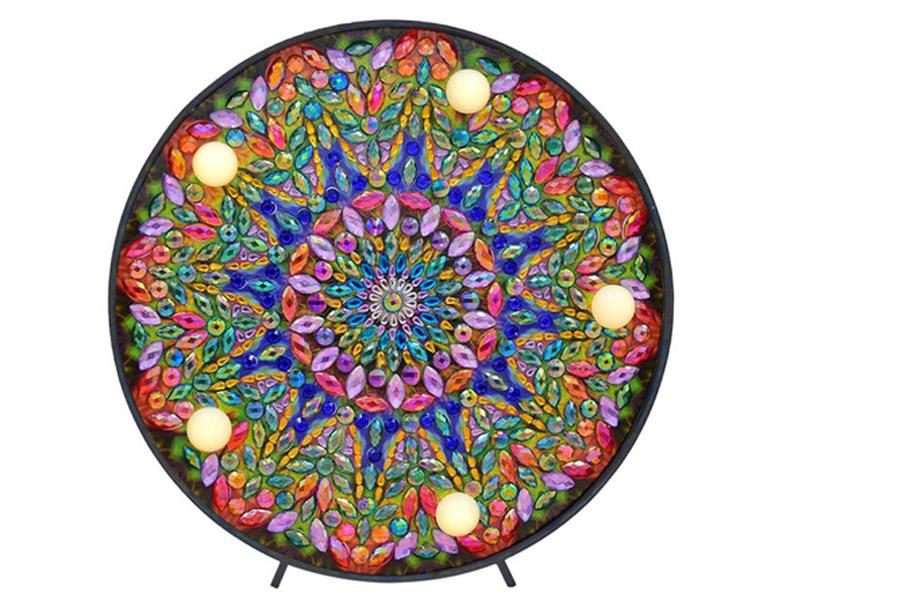 Diamond painting decoratie met LED verlichting D
