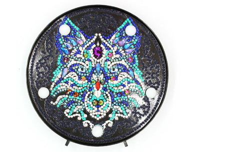 Diamond painting decoratieschaal met LED verlichting | Compleet doe-het-zelf pakket - In 16 uitvoeringen E