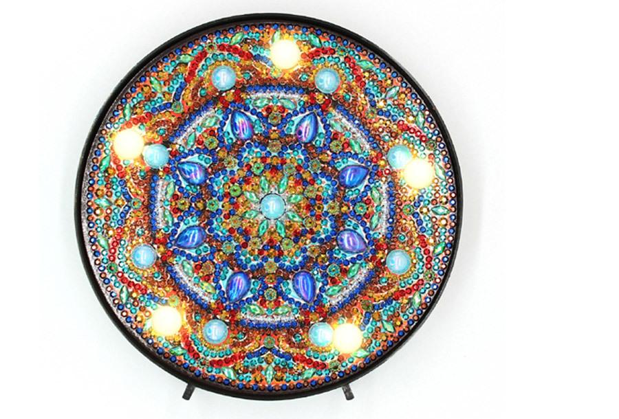 Diamond painting decoratie met LED verlichting G