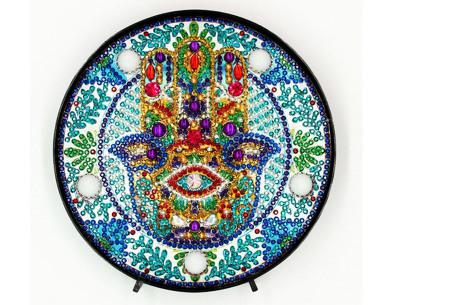 Diamond painting decoratieschaal met LED verlichting | Compleet doe-het-zelf pakket - In 16 uitvoeringen H