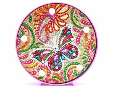Diamond painting decoratieschaal met LED verlichting | Compleet doe-het-zelf pakket - In 16 uitvoeringen I