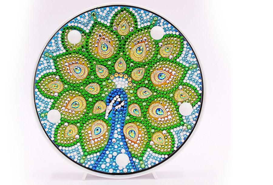 Diamond painting decoratie met LED verlichting J