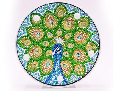 Diamond painting decoratieschaal met LED verlichting | Compleet doe-het-zelf pakket - In 16 uitvoeringen J