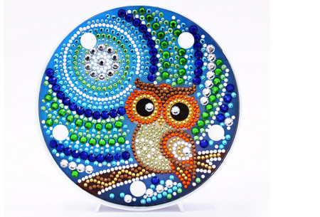Diamond painting decoratieschaal met LED verlichting | Compleet doe-het-zelf pakket - In 16 uitvoeringen K