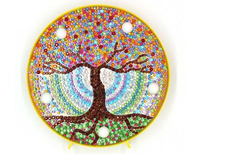 Diamond painting decoratieschaal met LED verlichting | Compleet doe-het-zelf pakket - In 16 uitvoeringen M