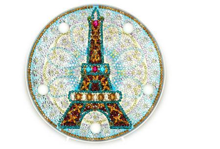 Diamond painting decoratieschaal met LED verlichting | Compleet doe-het-zelf pakket - In 16 uitvoeringen N