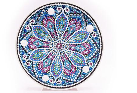 Diamond painting decoratieschaal met LED verlichting | Compleet doe-het-zelf pakket - In 16 uitvoeringen O