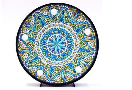 Diamond painting decoratieschaal met LED verlichting | Compleet doe-het-zelf pakket - In 16 uitvoeringen P