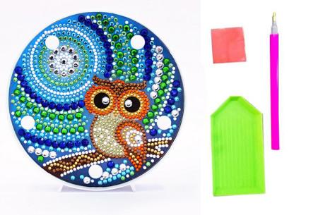 Diamond painting decoratieschaal met LED verlichting | Compleet doe-het-zelf pakket - In 16 uitvoeringen