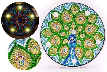 Diamond painting decoratieschaal met LED verlichting - aanbieding