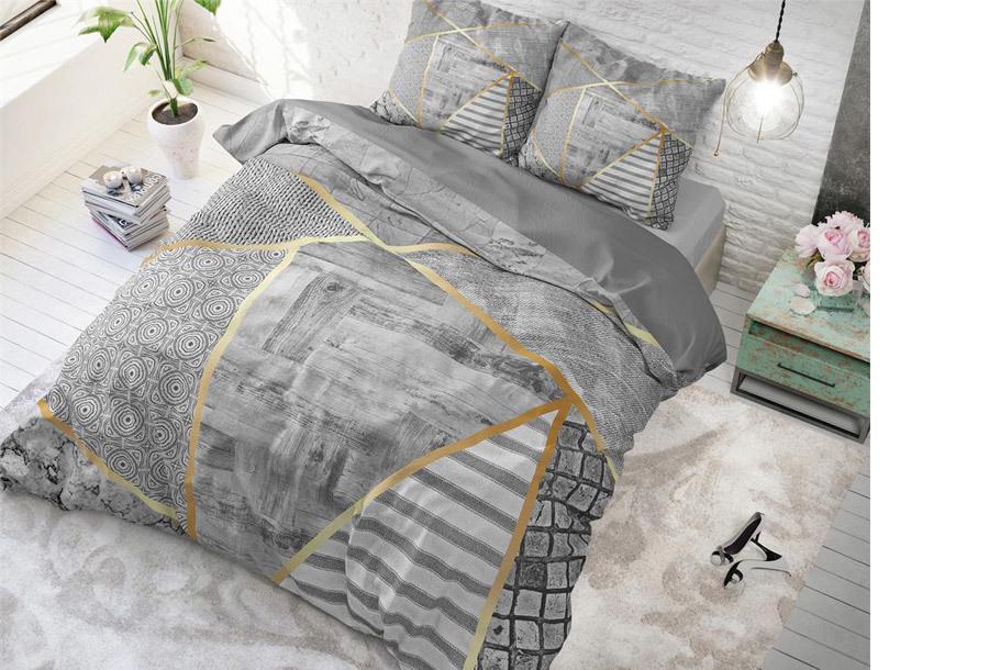 Dreamhouse dekbedovertrek Maat 240 x 200/220 cm - Graphic - grijs