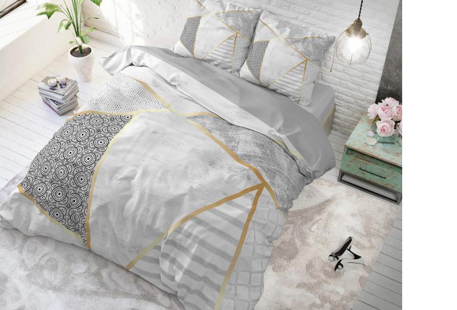 Dreamhouse dekbedovertrek Maat 240 x 200/220 cm - Graphic - wit