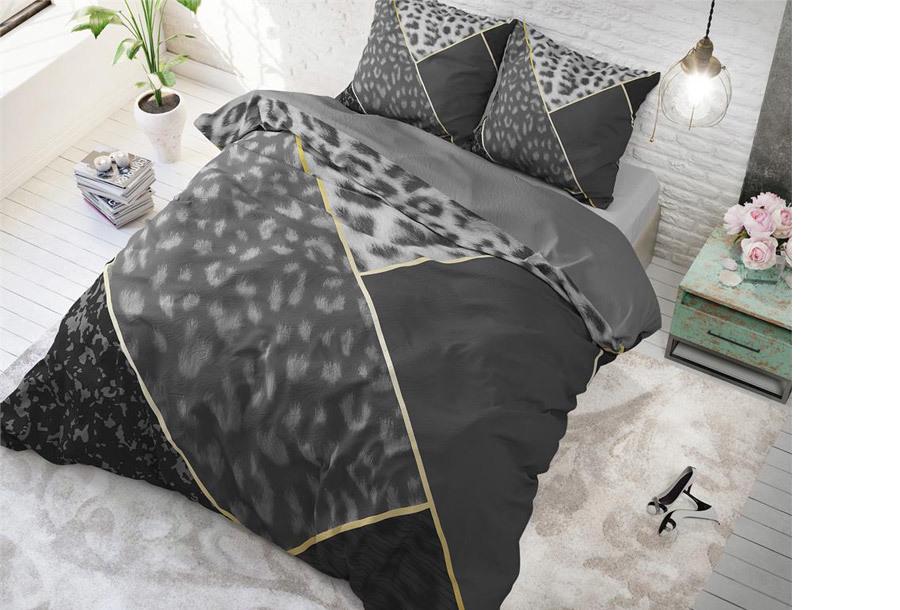Dreamhouse dekbedovertrek Maat 240 x 200/220 cm - Panther vibe - antraciet