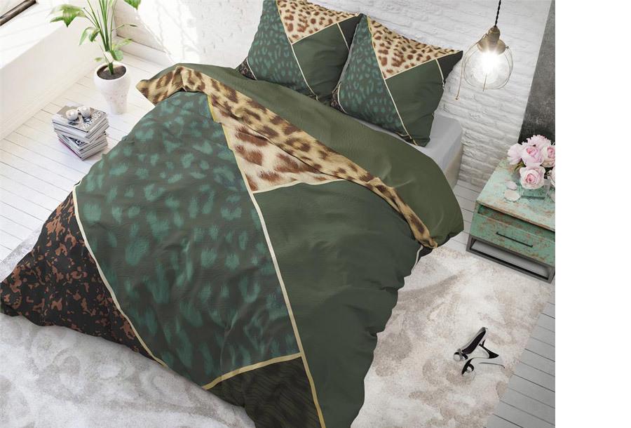 Dreamhouse dekbedovertrek Maat 240 x 200/220 cm - Panther vibe - groen