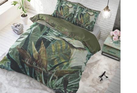Katoenen dekbedovertrekken van Dreamhouse | In 7 hippe uitvoeringen Botanic - groen
