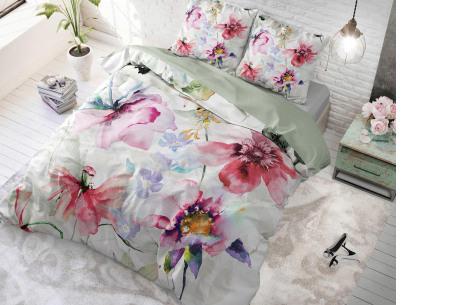 Katoenen dekbedovertrekken van Dreamhouse | In 7 hippe uitvoeringen Water flowers - multi