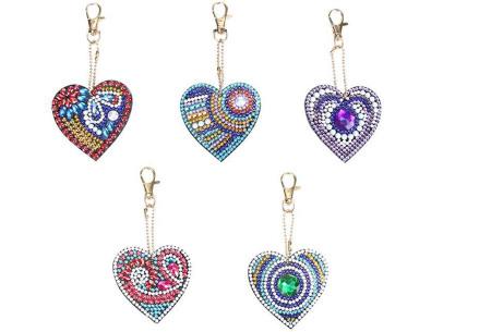 Diamond painting sleutelhangers | Compleet doe-het-zelf pakket met 3, 4, 5 of 6 sleutelhangers - Kies uit 15 sets I