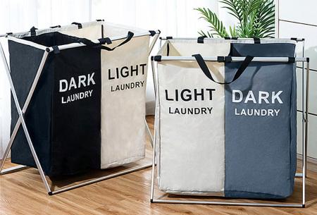 Wasmand met meerdere vakken | Sorteer al je wasgoed op kleur