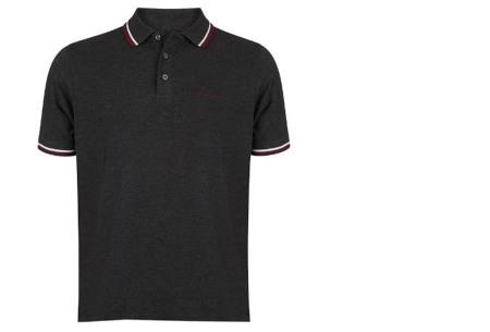 Pierre Cardin polo's voor heren in diverse kleuren | Topkwaliteit van 100% katoen - Extra afgeprijsd, OP=OP! A - Charcoal