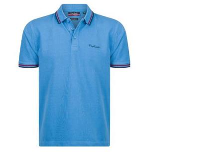 Pierre Cardin polo's voor heren in diverse kleuren | Topkwaliteit van 100% katoen - Extra afgeprijsd, OP=OP! A - Denim blue