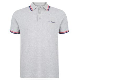Pierre Cardin polo's voor heren in diverse kleuren | Topkwaliteit van 100% katoen - Extra afgeprijsd, OP=OP! A - Grijs
