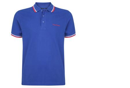 Pierre Cardin polo's voor heren in diverse kleuren | Topkwaliteit van 100% katoen - Extra afgeprijsd, OP=OP! A - Royal blue