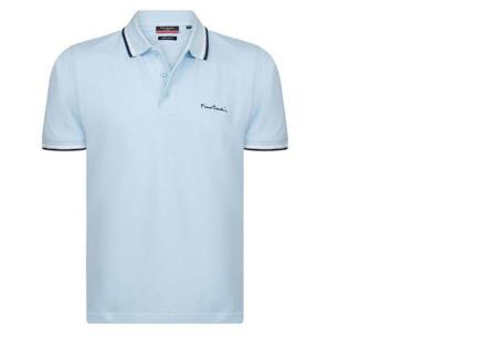 Pierre Cardin polo's voor heren in diverse kleuren | Topkwaliteit van 100% katoen - Extra afgeprijsd, OP=OP! A - Sky blue