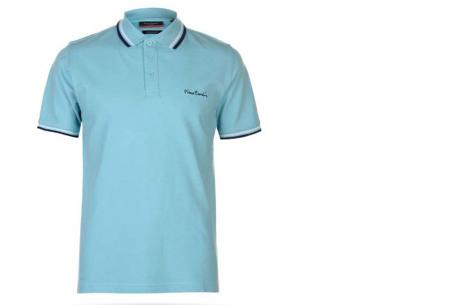 Pierre Cardin polo's voor heren in diverse kleuren | Topkwaliteit van 100% katoen - Extra afgeprijsd, OP=OP! A - Turquoise