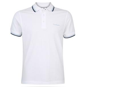 Pierre Cardin polo's voor heren in diverse kleuren | Topkwaliteit van 100% katoen - Extra afgeprijsd, OP=OP! A - Wit