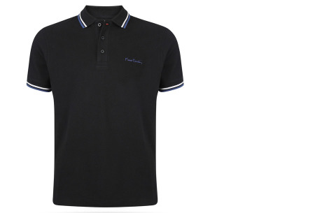 Pierre Cardin polo's voor heren in diverse kleuren | Topkwaliteit van 100% katoen - Extra afgeprijsd, OP=OP! A - Zwart