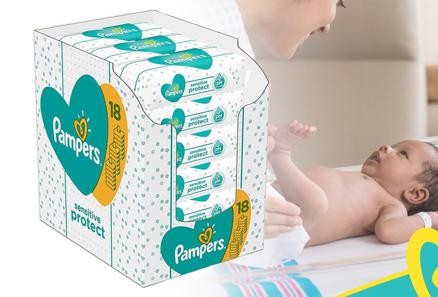 Mega-pack Pampers Sensitive Protect babydoekjes <br/>EUR 19.99 <br/> <a href='https://tc.tradetracker.net/?c=24550&m=1018050&a=230468&u=https%3A%2F%2Fwww.vouchervandaag.nl%2Fpampers-sensitive-protect-babydoekjes-billendoekjes-mega-pack' target='_blank'>bekijk product</a>