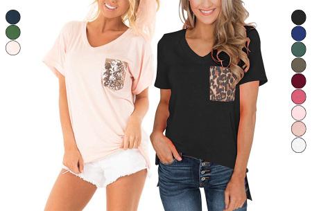 Dames shirt met borstzakje nu in de sale