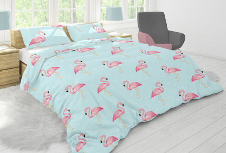 Nightlife dekbedovertrek in diverse designs | Topkwaliteit katoenmix overtrekken voor een bodemprijs flamingo blue