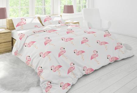 Nightlife dekbedovertrek in diverse designs | Topkwaliteit katoenmix overtrekken voor een bodemprijs flamingo white