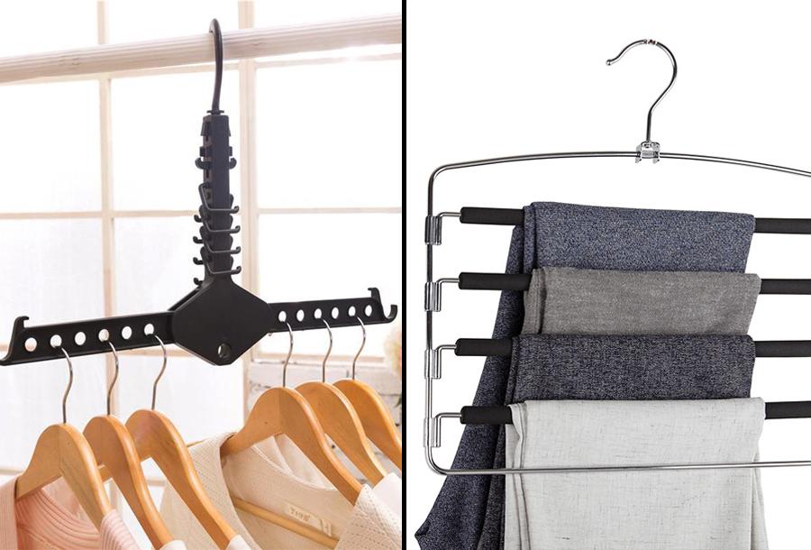 Ruimtebesparende kledinghangers met hoge korting