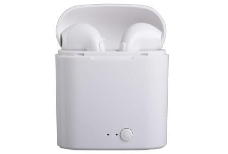 Draadloze Bluetooth oordopjes voor Android & iPhone | Muziek luisteren en handsfree bellen zonder vervelende snoeren Wit