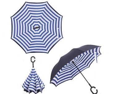 Omkeerbare paraplu | Met deze stormparaplu ben je altijd voorbereid op de regen! C
