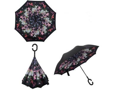 Omkeerbare paraplu | Met deze stormparaplu ben je altijd voorbereid op de regen! E
